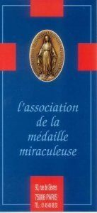 flyer de l'association de la médaille miraculeuse