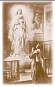 Sœur Catherine Labouré - vision de la Vierge au globe