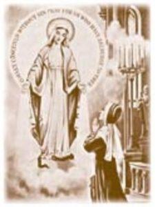 Sœur Catherine Labouré - vision de la Vierge aux rayons