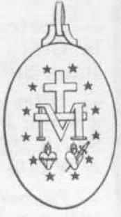 dessin de la médaille miraculeuse - verso