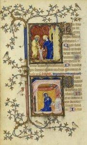 Présentation de Marie au Temple BN Latin 18014 fol.142v | DR