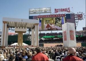 Benoît XVI au Stadium Nationals Park Washington |DR