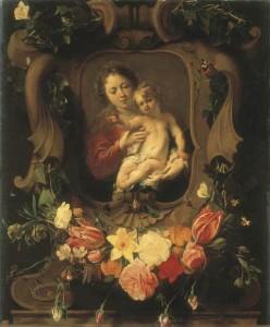 Vierge à l'enfant in guirlande de fleurs Seghers Schut Petit-Palais Paris   DR