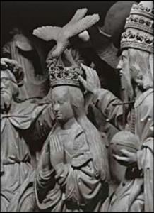 couronnement de la Vierge choeur cathédrale de Chartres