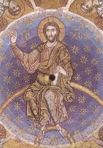 Christ bénissant, Coupole centrale. San Marco, Venise