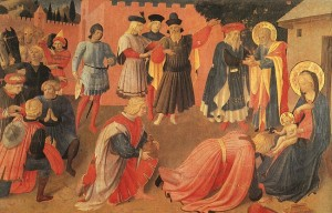 Fra-Angelico adoration des Mages 1433-35 Museo San Marco Florence