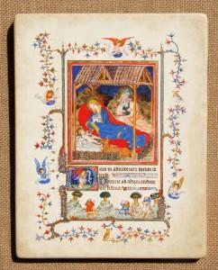 NATIVITÉ, d'après les Très belles heures de Jean de France, Duc de Berry - France - vers 1400