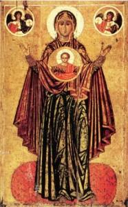 La Vierge Orante, XIIe siècle, ou la Vierge de l'Incarnation, ou la Grande Panaguia de Yaroslavl | DR