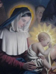 extrait de l'Adoration des Mages - Frère François - chapelle St Vincent de Paul Paris