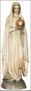 Première Vierge au Globe, sculptée par Robert Froc - 1876