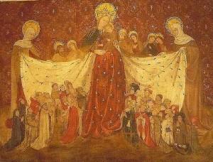 Vierge au manteau - Un tableau français du début du XVe siècle - Louvre