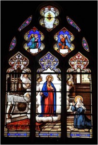 Sacré Coeur vitrail de l'église Sainte Marie-Madeleine de Vendôme