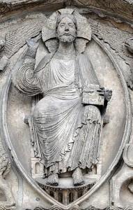 Christ en gloire Chartres Tympan Portail central