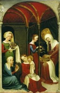 La Nativité de la Vierge, vers 1410, Strasbourg Musée de l'Œuvre Notre-Dame