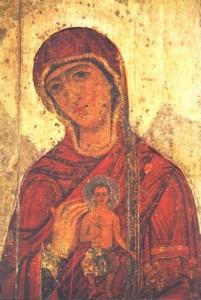 Vierge de l'Annonciation d'Oustioug - Novgorod XIIe siècle