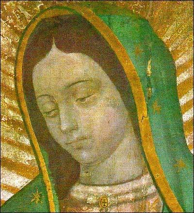 Guadalupe face originale de Notre Dame