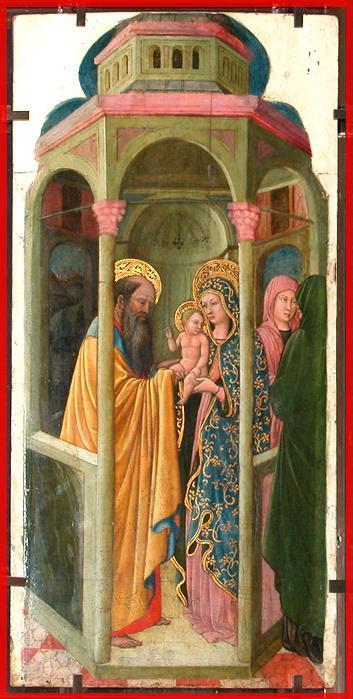 La Présentation de Jésus au Temple (peinture à l'huile sur bois - motif) de Giovanni Francesco da Rimini (1420-1469) Louvre