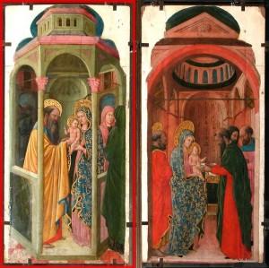 La Présentation de Jésus au Temple (Peinture à l'huile sur bois) de Giovanni Francesco da Rimini (Italie - 1420-1469) Louvre