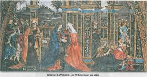 Visitation par Pinturicchio - détail