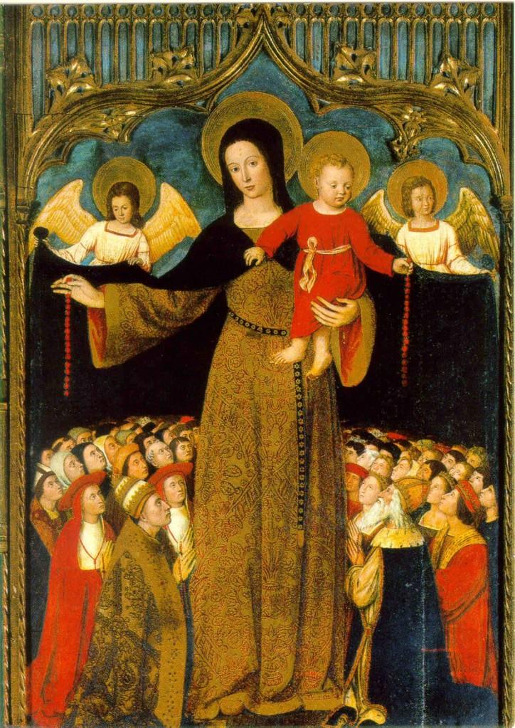 Vierge au manteau Louis Bréa retable de Biot pays niçois