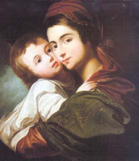 Vierge à l'Enfant 1790 - huile sur toile Palais de Pavlovsk Russie