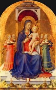 Vierge et l'enfant nu - Fra Angelico