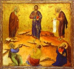 Duccio di Buoninsegna Transfiguration du Christ 1308-11 National Gallery London