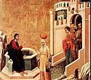 Duccio di Buoninsegna Jésus et la Samaritaine