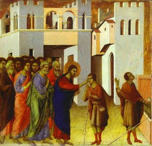 Duccio di Buoninsegna - Jésus guérissant un aveugle 1308-11 National Gallery_Londres