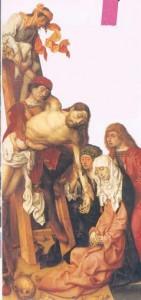 La descente de croix - fin XVe siècle - huile sur bois | DR