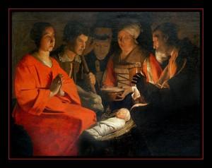 Georges de la Tour - l'adoration des bergers