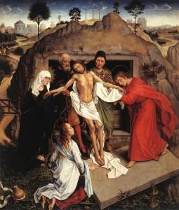 Rogier van der Weyden (1399 - 1464), mise au tombeau, Florence, musée des Offices