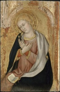 la Vierge de l'Annonciation Taddeo di Bartolo