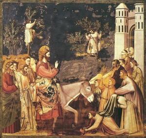 Giotto - l'entrée de Jésus-Christ dans Jérusalem