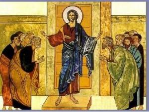 Jésus ressuscité et ses apôtres