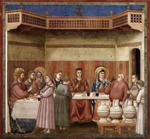 Les noces de Cana - Giotto 1266-1337 fresque chapelle Scrovogni Padoue