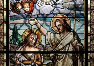 Jésus baptisé par saint Jean-Baptiste