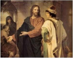 Heinrich Hofmann Le Christ et le jeune homme riche