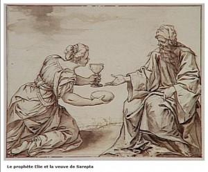 Le prophète Elie et la veuve de Satepta - Sebastian Herrera Barnuevo - 1619-1671