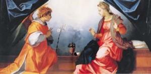 Annonciation Andrea del Sarto (1486-1531) Tampera sur bois