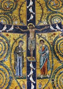 Jésus en croix avec sa Mère et Saint Jean