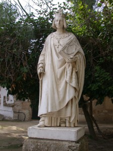 Statue de Saint Louis à Carthage - Louis IX, roi de France (✝ 1270)