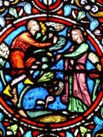 vitrail de Zachée - arbre - Notre Dame en Vaux - Châlons-en-Champagne - 51