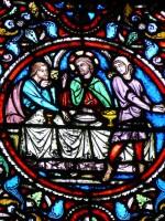 vitrail de Zachée -repas - Notre Dame en Vaux - Châlons-en-Champagne - 51