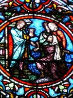 vitral de Zachée - aumônes -Notre Dame en Vaux - Châlons-en-Champagne