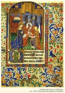 Annontiation à la Vierge du livre d'Heures de Pellegrin de Remicourt
