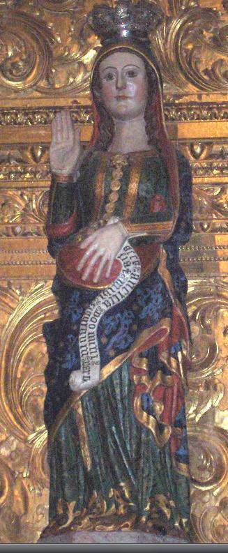 Vierge enceinte - cathédrale d'Évora Portugal