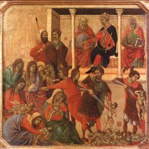 Duccio le massacre des Saints Innocents 1308-11 Museo dell'Opera Sienne