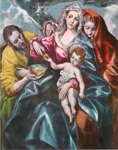 Sainte Famille El Greco (1547-1614) huile sur toile - Cleveland