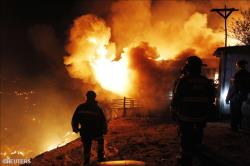 Incendie à Valparaiso